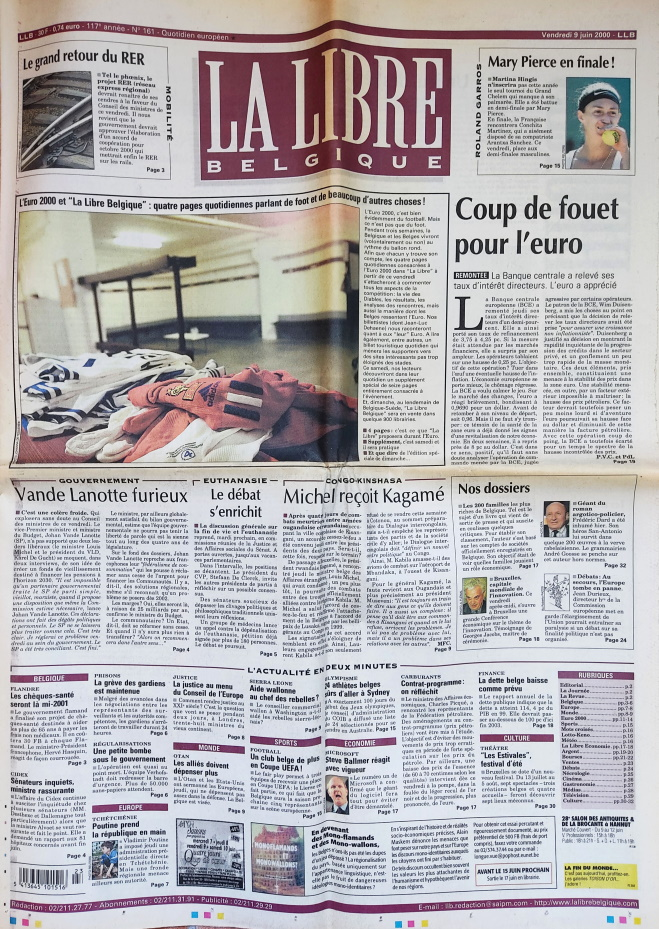 La Libre Belgique 9 juin 2000
