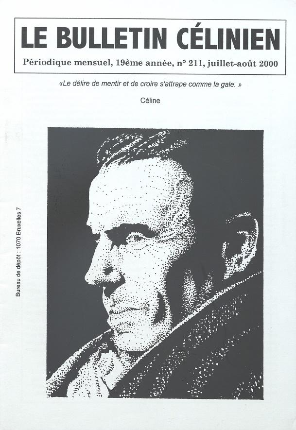 Le bulletin Célinien n°211