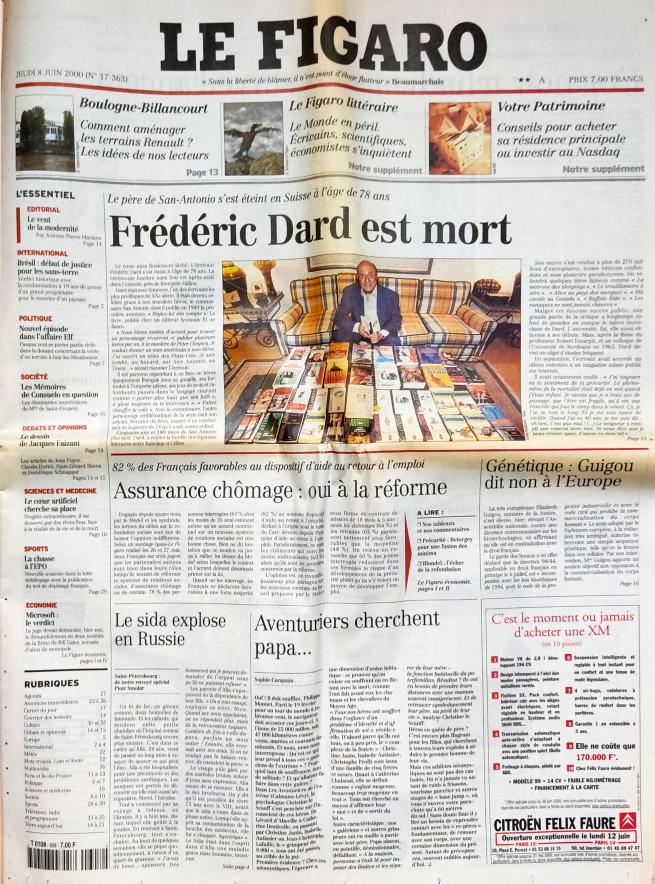 Le Figaro n°17363 - 8 juin 2000